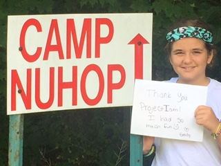 Emily : One of our Camp NUHOP Contest Winners 2016